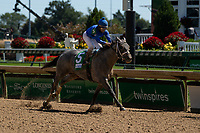 5th September 202, Louisville, KY, USA;  Essential Quality wins the 4th race at the 146th Kentucky Derby on September 5, 2020 at Churchill Downs in Louisville, KY.