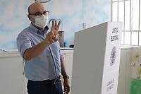 Campinas (SP), 29/11/2020 - Eleições-SP - O candidato a prefeitura de Campinas, interior de São Paulo, Dário Saadi (Republicanos), votou na manhã deste domingo (29) na Emei Cônego Manoel Garcia no Bonfim.