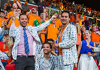 The Hague, The Netherlands, September 16, 2017,  Sportcampus , Davis Cup Netherlands - Chech Republic, Doubles : Dutch student supporters<br /> Photo: Tennisimages/Henk Koster