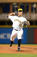 Bradenton Marauders pitcher Zack Von Rosenberg #32 during a game against the St. Lucie Mets on April 12, 2013 at McKechnie Field in Bradenton, Florida.  St. Lucie defeated Bradenton 6-5 in 12 innings.  (Mike Janes/Four Seam Images)
