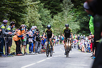 Team Mitchelton-Scott riders up the Col de Marie Blanque<br /> <br /> Stage 9 from Pau to Laruns 153km<br /> 107th Tour de France 2020 (2.UWT)<br /> (the 'postponed edition' held in september)<br /> ©kramon