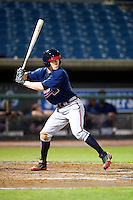 Clint Frazier #19 of Loganville High School in Loganville, Georgia playing for the Atlanta Braves scout team during the East Coast Pro Showcase at Alliance Bank Stadium on August 1, 2012 in Syracuse, New York.  (Mike Janes/Four Seam Images)