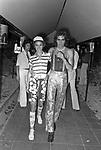 FLORINDA BOLKAN CON LORENZO RIPOLI<br /> FESTA PER I 30 ANNI DI HELMUT BERGER JACKIE O' ROMA 1974