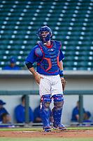AZL Cubs catcher Marcus Mastrobuoni (5) on defense against the AZL Diamondbacks on August 11, 2017 at Sloan Park in Mesa, Arizona. AZL Cubs defeated the AZL Diamondbacks 7-3. (Zachary Lucy/Four Seam Images)