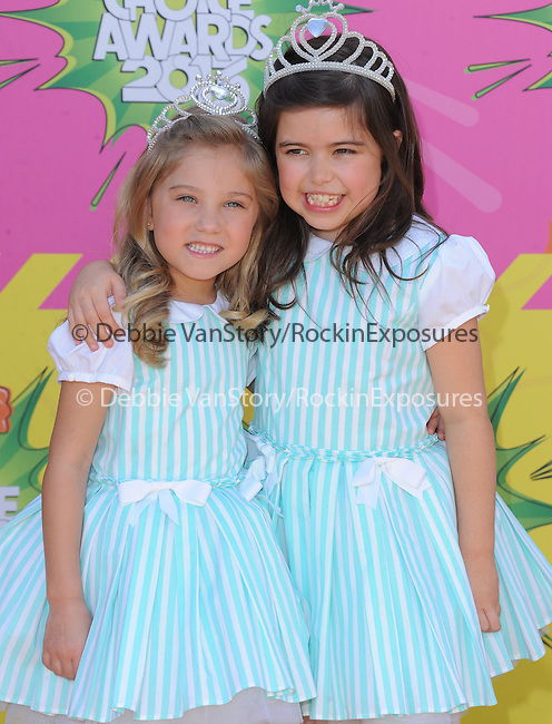 Sophia Grace Brownlee and Rosie McClelland at The Nickelodeon's Kids' Choice Awards 2013 held at The Galen Center in Los Angeles, California on March 23,2013                                                                   Copyright 2013 Hollywood Press Agency