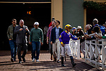 MAR 07: Del Cedillo interacts with fans before the San Felipe Stakes at Santa Anita Park in Arcadia, California on March 7, 2020. Evers/Eclipse Sportswire/CSM