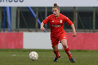 20180127 - AALTER , BELGIUM : Standard's Karlijn Knapen pictured during the quarter final of Belgian cup 2018 , a womensoccer game between Club Brugge Dames and Standard Femina de Liege , in Aalter , saturday 27 th January 2018 . PHOTO SPORTPIX.BE | DAVID CATRY