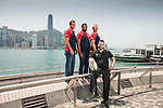 USA Sevens Rugby team players pose for a picture during a photo call to launch Heathrow Express as a sponsor of USA Rugby on 27 March 2014 in Hong Kong, China. Photo by Victor Fraile / Power Sport Images