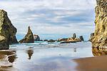 Bandon Beach, unique, whimsical, weathered, dramatic.  Bandon, Oregon
