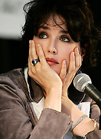 August 2004 File Photo - Montreal, Quebec, Canada -<br /> Isabelle Adjani Press Conference