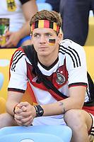 A worried Germany fan