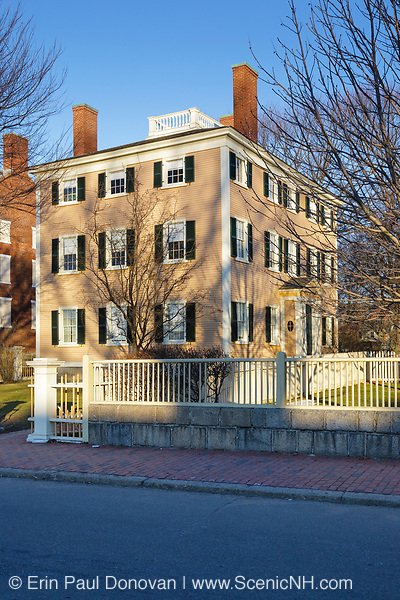 The Hawkes House in Salem, Massachusetts. Designed by Salem architect Samuel McIntire, the building of this house began in 1780, but it was never completed; Benjamin Hawkes would purchase and complete the building of it around 1800. This 18th-century house is part of the Salem Maritime National Historic Site, which was the first national historic site in the National Park System.