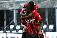 Rafael Leao of AC Milan celebrates with Fikayo Tomori after scoring the goal of 1-0 during the Serie A 2021/2022 football match between AC Milan and SS Lazio at Giuseppe Meazza stadium in Milano (Italy), August 29th, 2021. Photo Image Sport / Insidefoto