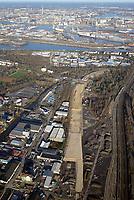 Verlegung Wilhelmsburger Reichsstrasse: EUROPA, DEUTSCHLAND, HAMBURG, (EUROPE, GERMANY), 07.01.2018: Verlegung Wilhelmsburger Reichsstrasse