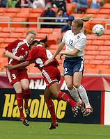 Cindy Parlow, USWNT vs Canada April 26, 2003.
