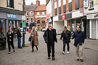 Town centre champion Bill Grimsey visits Retford on a trip organised by North Notts BID
