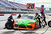 #20: Harrison Burton, Joe Gibbs Racing, Toyota Supra DEX Imaging pit stop
