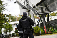 7th October 2020, FRankfurt, Germany; The DFB German Football League offices are raided by the German Anti-Fraud squad; Police outside the offices