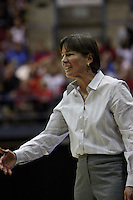 BERKELEY, CA - MARCH 30: Head coach Tara Vanderveer during Stanford's 74-53 win against the Iowa State Cyclones on March 30, 2009 at Haas Pavilion in Berkeley, California.