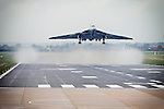 Pix: Shaun Flannery/shaunflanneryphotography.com<br /> <br /> COPYRIGHT PICTURE>>SHAUN FLANNERY>01302-570814>>07778315553>><br /> <br /> 28th October 2015<br /> Vulcan xh558 final ever flight from Robin Hood Airport Doncaster Sheffield.