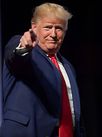 WEST PALM BEACH, FL - DECEMBER 21: President Donald Trump Speaks at the 2019 Turning Point USA Student Action Summit - Day 3 at the Palm Beach County Convention Center on December 21, 2019 in West Palm Beach, Florida.<br /> <br /> <br /> People:  President Donald Trump