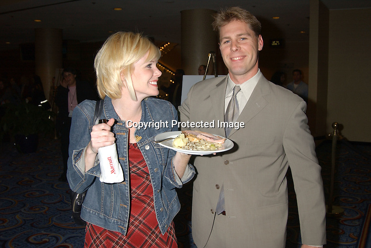 Maura West and Scott DeFreitas                                       ..at the Ninth Annual Daytime Television Salutes St. Jude ..Children's Research Hospital benefit in New York City on ..October 10, 2003 at the Marriott Marquis Hotel. ..Photo by Robin Platzer, Twin Images