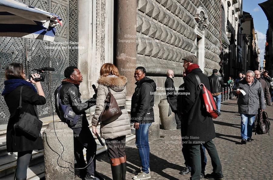 - NAPOLI  6 FEB 2014 - benjamin okonobe  l'immigrato  che ha sventato lo scippo nel centro storico. Conchita Sannino