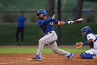 AZL Rangers Reynaldo Pichardo (6) at bat during an Arizona League game against the AZL Dodgers Mota at Camelback Ranch on June 18, 2019 in Glendale, Arizona. AZL Dodgers Mota defeated AZL Rangers 13-4. (Zachary Lucy/Four Seam Images)