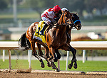 April 17, 2021: Royal Ship with Mike Smith (red cap) defeats Country Grammar and Flavien Prat to win the Californian Stakes at Santa Anita Park, in Arcadia, California on April 17, 2021. Evers/Eclipse Sportswire/CSM