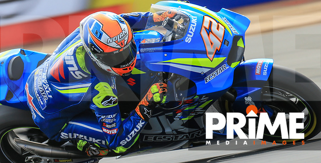 Alex Rins (42) of the Team SUZUKI ECSTAR race team during the GoPro British MotoGP at Silverstone Circuit, Towcester, England on 24 August 2018. Photo by Chris Brown / PRiME Media Images