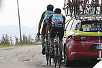 At the rear Davide Formolo (ITA) and Peter Kennaugh (GBR) Bora-Hansgrohe during the 99th edition of Milan-Turin 2018, running 200km from Magenta Milan to Superga Basilica Turin, Italy. 10th October 2018.<br /> Picture: Eoin Clarke | Cyclefile<br /> <br /> <br /> All photos usage must carry mandatory copyright credit (© Cyclefile | Eoin Clarke)