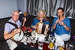 Terence McQuinn Castleisland, Imelda Kelleher Macroom and Sheila Heery Castleisland back playing a session in Kearney's Bar Castleisland on Tuesday evening