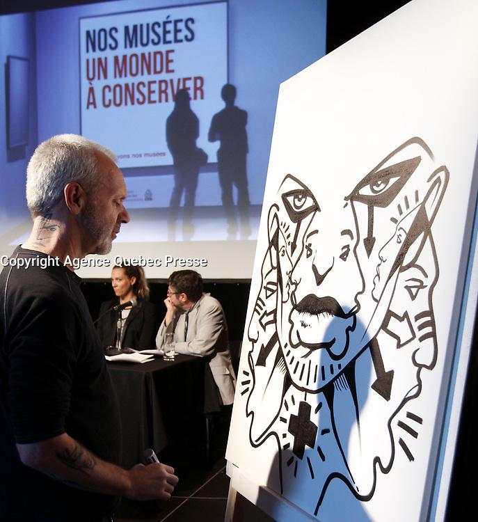 L'artiste peintre multidisciplinaire Zilon<br /> , Sept 27, 2015.<br /> <br /> <br /> <br /> PHOTO :  Agence Quebec Presse