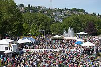 Crowds at Northwest Folklife Festival 2016, Seattle Center, Washington, USA.