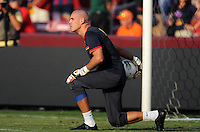 FC Barcelona goalkeeper Victor Valdez (1)  Manchester United defeated Barcelona FC 2-1 at FedEx Field in Landover, MD Saturday July 30, 2011.