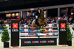 Billy Raymont of Australia riding Oaks Redwood competes in the Longines Speed Challenge during the Longines Masters of Hong Kong at AsiaWorld-Expo on 10 February 2018, in Hong Kong, Hong Kong. Photo by Diego Gonzalez / Power Sport Images
