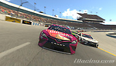 #96: Daniel Suarez, Gaunt Brothers Racing, Toyota Camry, #20: Erik Jones, Joe Gibbs Racing, Toyota Camry<br /> <br /> (MEDIA: EDITORIAL USE ONLY) (This image is from the iRacing computer game)
