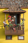 Spain, Canary Islands, La Palma, Tazacorte: residential building, balcony, flower decorated