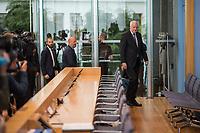Der CSU-Vorsitzende und Bundesinnenminster Horst Seehofer stellte sich am Dienstag den 16. Oktober 2018 in Berlin den Fragen der Presse. Die CSU hat mit nur 37,2 Prozent der abgegebenen Stimmen ihr schlechtestes Wahlergebnis seit ihrer Gruendung erzielt und zum ersten Mal die absolute Mehrheit in Bayern verloren. Sie ist zum ersten Mal auf einen Koalitionspartner angewiesen.<br /> 16.10.2018, Berlin<br /> Copyright: Christian-Ditsch.de<br /> [Inhaltsveraendernde Manipulation des Fotos nur nach ausdruecklicher Genehmigung des Fotografen. Vereinbarungen ueber Abtretung von Persoenlichkeitsrechten/Model Release der abgebildeten Person/Personen liegen nicht vor. NO MODEL RELEASE! Nur fuer Redaktionelle Zwecke. Don't publish without copyright Christian-Ditsch.de, Veroeffentlichung nur mit Fotografennennung, sowie gegen Honorar, MwSt. und Beleg. Konto: I N G - D i B a, IBAN DE58500105175400192269, BIC INGDDEFFXXX, Kontakt: post@christian-ditsch.de<br /> Bei der Bearbeitung der Dateiinformationen darf die Urheberkennzeichnung in den EXIF- und  IPTC-Daten nicht entfernt werden, diese sind in digitalen Medien nach §95c UrhG rechtlich geschuetzt. Der Urhebervermerk wird gemaess §13 UrhG verlangt.]