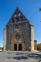 France, Lot, (46), Montcabrier: l' Église Saint-Louis // France, Lot, Montcabrier: Saint-Louis church