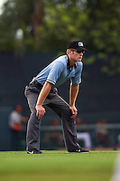 Umpire Reed Basner  during an instructional league game between the Minnesota Twins and Baltimore Orioles on September 22, 2015 at Ed Smith Stadium in Sarasota, Florida.  (Mike Janes/Four Seam Images)