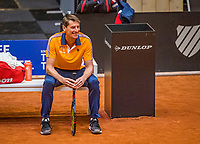 Den Bosch, The Netherlands, April 15, 2021,    Maaspoort, Billy Jean King Cup  Netherlands -  China : practice, captain Paul Haarhuis (NED)<br /> Photo: Tennisimages/Henk Koster
