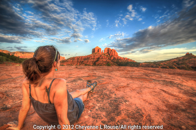 Sometimes just for the heck of it I jump in front of the camera on my last shot of the day. This was a great afternoon of shooting in Sedona, Arizona.