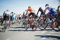 peloton turning on top of the Eikenberg <br /> <br /> 100th Ronde van Vlaanderen 2016