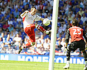30/05/2009  Copyright  Pic : James Stewart.sct_jspa_39_rangers_v_falkirk.MARK STEWART TRIES A SHOT ON GOAL.James Stewart Photography 19 Carronlea Drive, Falkirk. FK2 8DN      Vat Reg No. 607 6932 25.Telephone      : +44 (0)1324 570291 .Mobile              : +44 (0)7721 416997.E-mail  :  jim@jspa.co.uk.If you require further information then contact Jim Stewart on any of the numbers above.........
