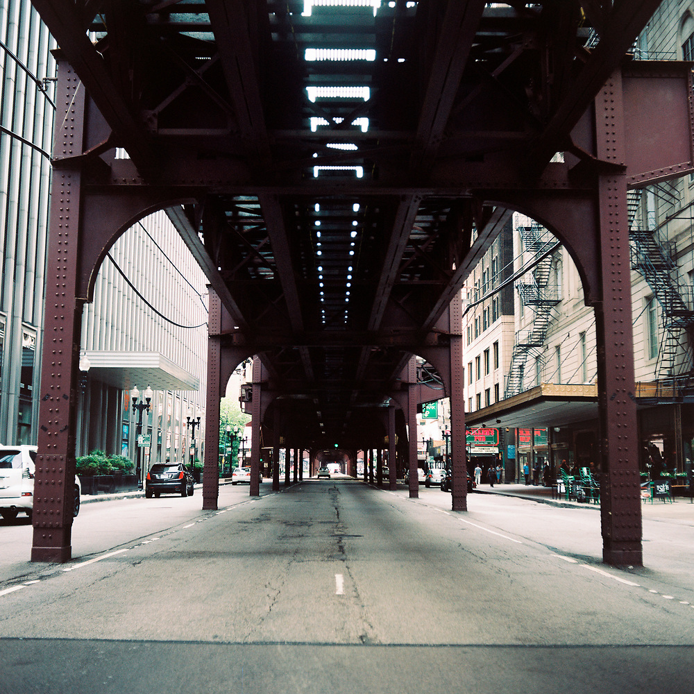 """A street below Chicago's """"L"""" is pictured on Sunday, July 1, 2018. (Photo by James Brosher)"""
