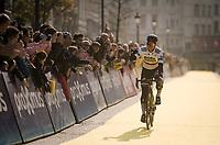 crowd favorite Peter SAGAN (SVN/BORA-Hansgrohe) returning from sign-on<br /> <br /> 103rd Ronde van Vlaanderen 2019<br /> One day race from Antwerp to Oudenaarde (BEL/270km)<br /> <br /> ©kramon
