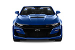Car photography straight front view of a 2019 Chevrolet Camaro 2SS 2 Door Convertible