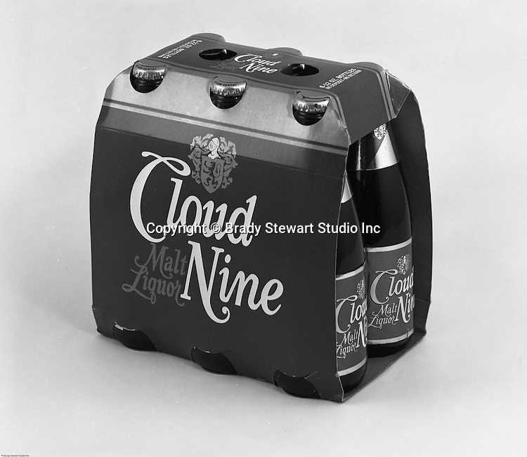 Client: DuBois Brewing<br /> Ad Agency: Thompson & Matelan Inc<br /> Contact: <br /> Product: DuBois Export Beer<br /> Location: Brady Stewart Studio, 211 Empire Building in Pittsburgh<br /> <br /> Studio photography of DuBois brewing's new Cloud Nine Malt Liquor six-pack cans. The assignment was for a local advertising agency, Thompson & Matelan.   Frank Hahne founded the business in 1896 in Clearfield County PA (Northwest PA). The brewery promoted two main products; DuBois Export Beer and DuBois Premium Beer. Frank Hahne Jr. sold the brewery to Pittsburgh Brewing in 1967. Five years later, in May of 1972, the brewery was closed.