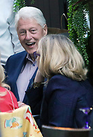 Bill And Hillary Clinton Seen Out For Dinner